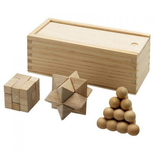 3 Juegos de ingenio en madera.
