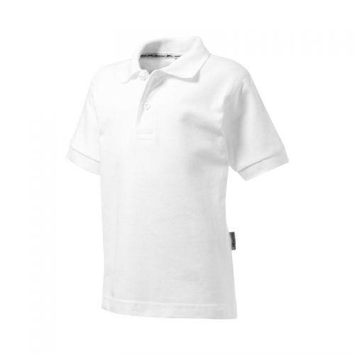 Polo manga corta blanco para niños