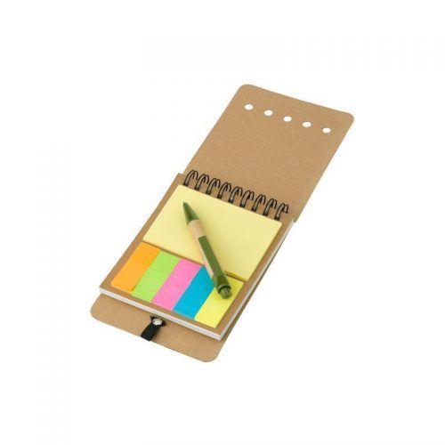 Bloc Notas Adhesivas y bolígrafo