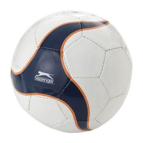 Balón de fútbol 32 paneles, blanco / azul marino