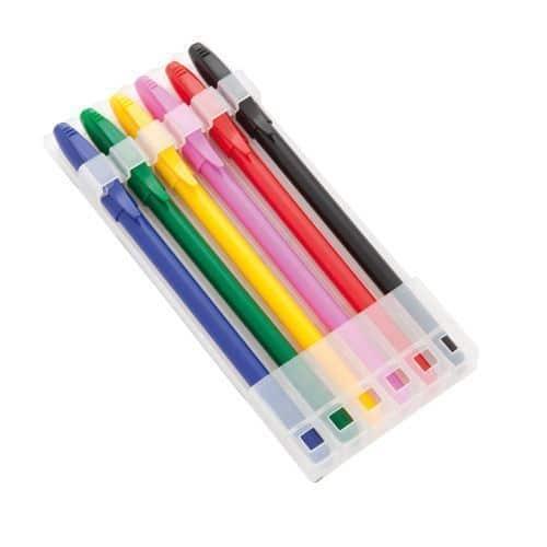 Set 6 bolígrafos de Colores