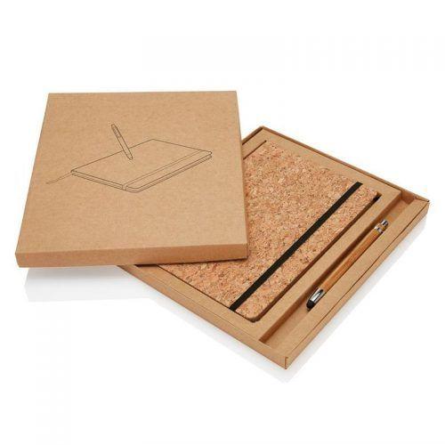 Libreta Corcho con Stylus Bambú