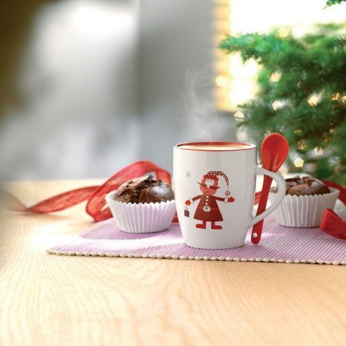 Taza con Cuchara Navidad