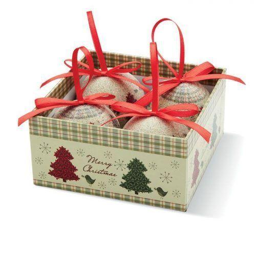 Set 4 Bolas Navidad