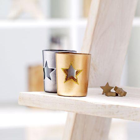 Soporte Vela Estrella Navidad