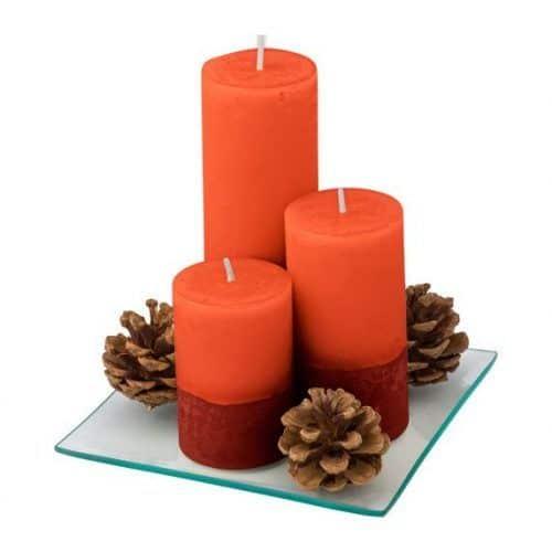 Set 3 velas y Bandeja