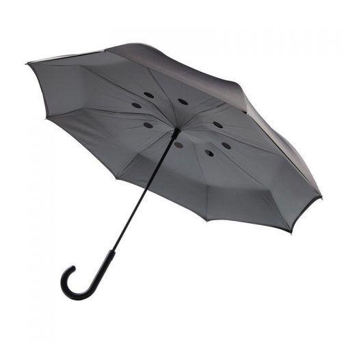 "Paraguas reversible 23"", gris"