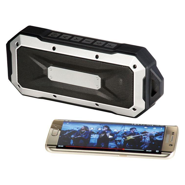Altavoz con Bluetooth® resistente al agua para exterior.