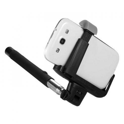 Palo de selfie extensible con Bluetooth.
