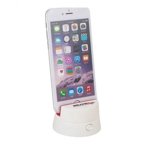 Soporte panorámico para móviles y tablets.