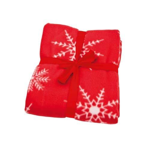 Manta polar con motivos navideños