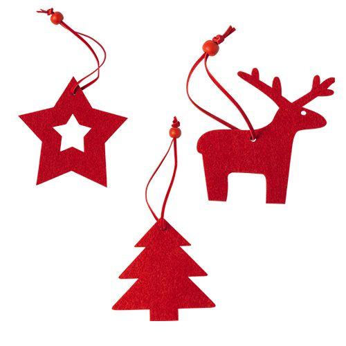 Set 3 adornos navideños.