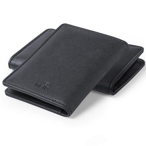Tarjetero polipiel con protección RFID.