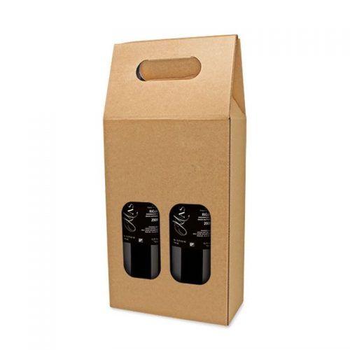Caja Cartón 2 Botellas