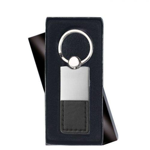 Llavero de polipiel y metal para regalo promocional y merchandising.