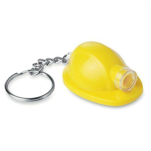 Llavero casco con luz para regalo promocional y merchandising