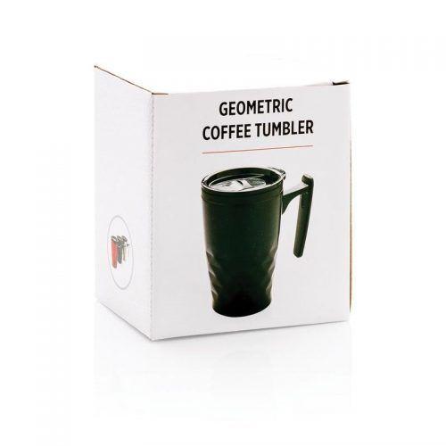 Taza café geométrica.