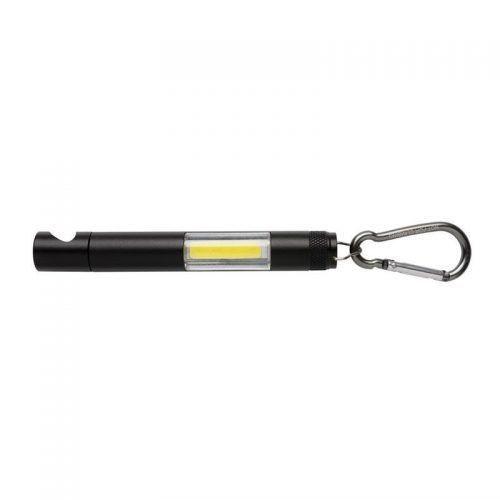 Linterna magnética con luz COB y abridor de botellas.