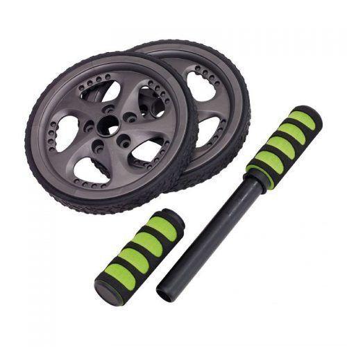 Entrenador abdominal FIT WHEEL , negro, verde