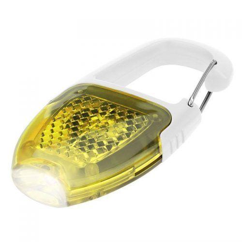 Luz reflectora con mosquetón
