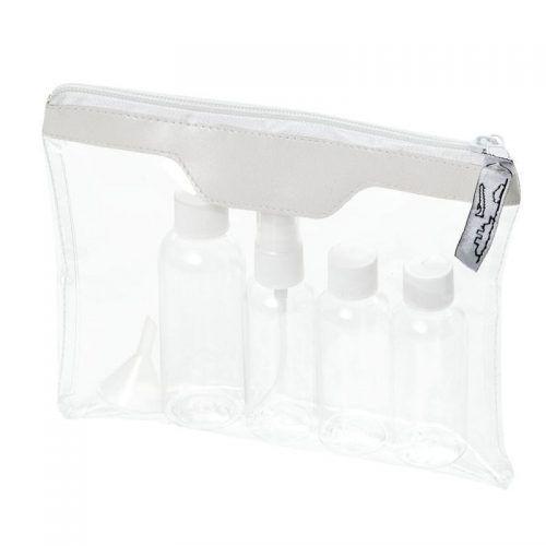 Neceser Transparente con tarros plástico