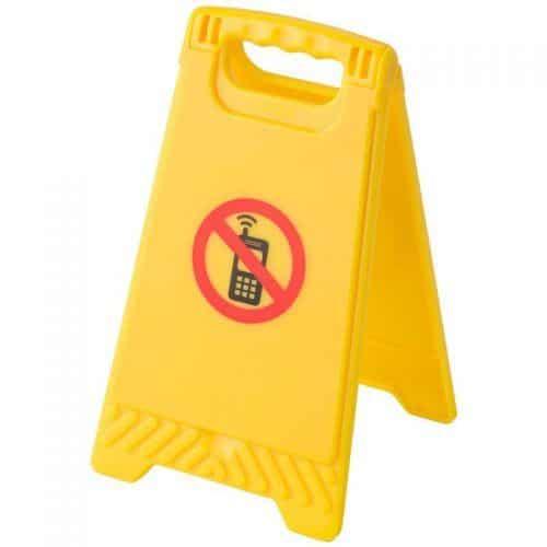 Señal de advertencia 'prohibido móviles'