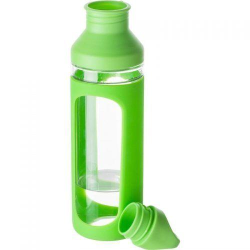 Botella de vidrio con apertura.