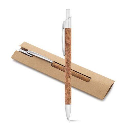 Bolígrafo Aluminio y Corcho