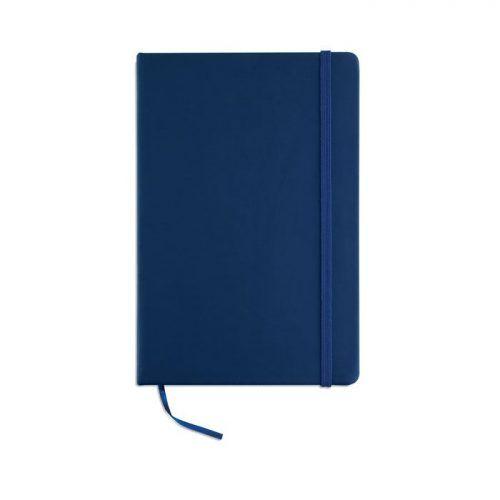 Cuaderno A5 a rayas.