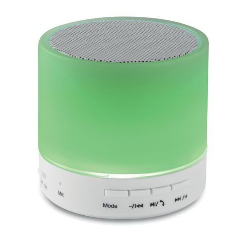 Altavoz circular Bluetooth LED.