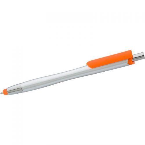 Bolígrafo de plástico con puntero táctil.