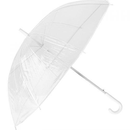 Paraguas transparente.