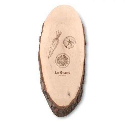 Tabla de cortar madera oval