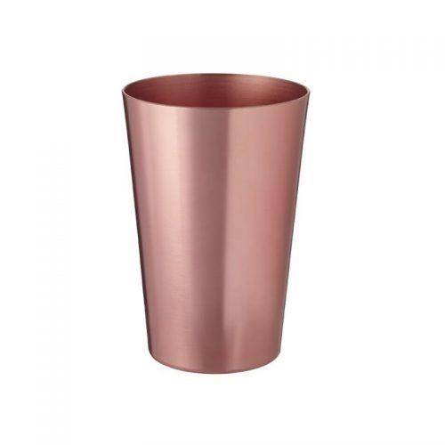 Vaso con acabado de cobre