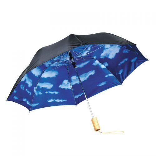 """Paraguas automático de 2 secciones """"Blue skies"""" 21"""""""