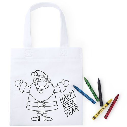 Bolsa Colorear Infantil Navidad