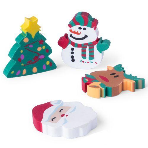 Set 4 Gomas Navidad