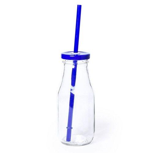 Tarro botella con pajita
