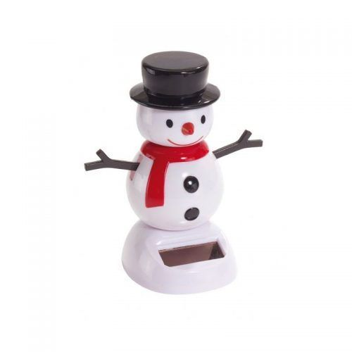 Figura solar muñeco de nieve