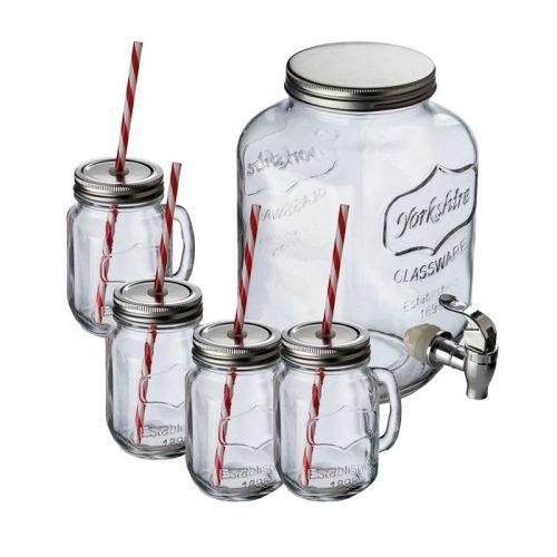 Dispensador cristal con 4 jarras