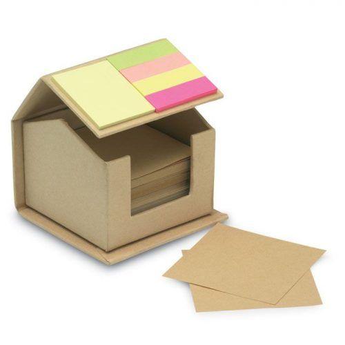 Notas adhesivas en cartón reciclado