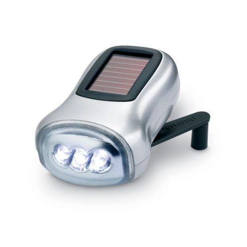 Linterna solar y dinamo