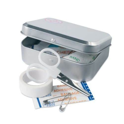Caja kit de primeros auxilios