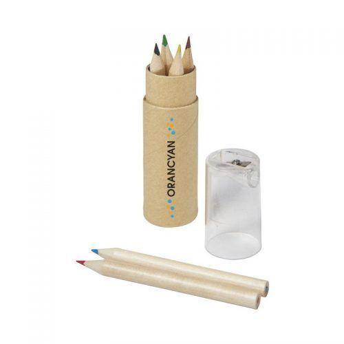Set de 6 lápices y sacapuntas, transparente