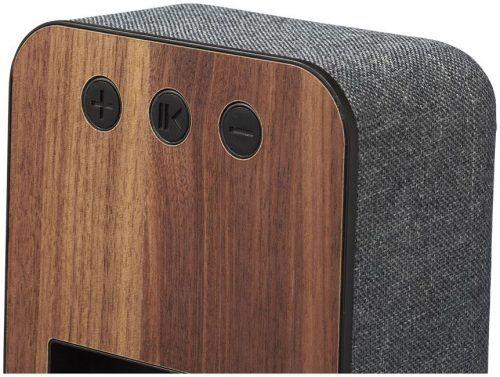 Altavoz Bluetoth personalizable en madera y tela
