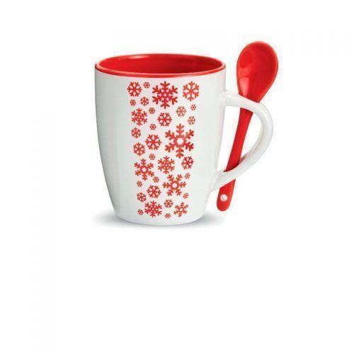 Taza de Navidad con cuchara.