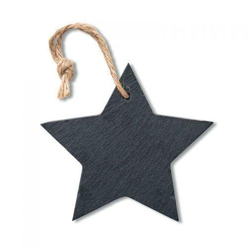 Colgante navideño en forma de estrella.