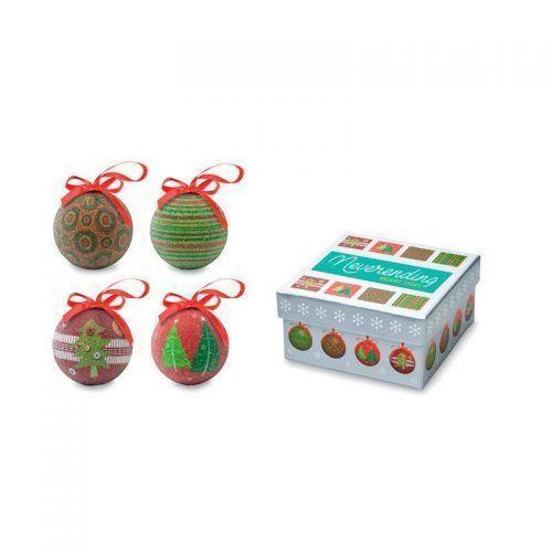 Set de 4 bolas de navidad.