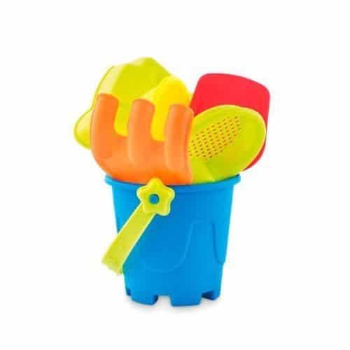 Cubo de playa con 6 juguetes merchandising corporativo