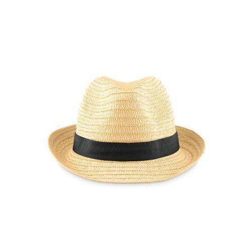 Sombrero de paja con cinta personalizable